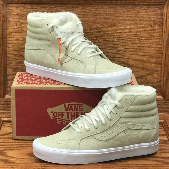 ec91654020 Vans Sk8 Hi Reissue Lite Sherpa Cement White Shoes